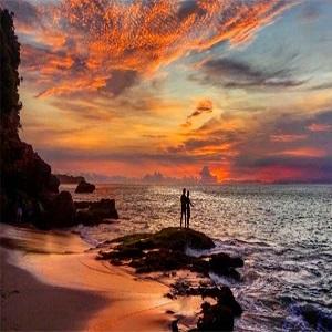 Sunset di Pantai Tegal Wangi Jimbaran Bali
