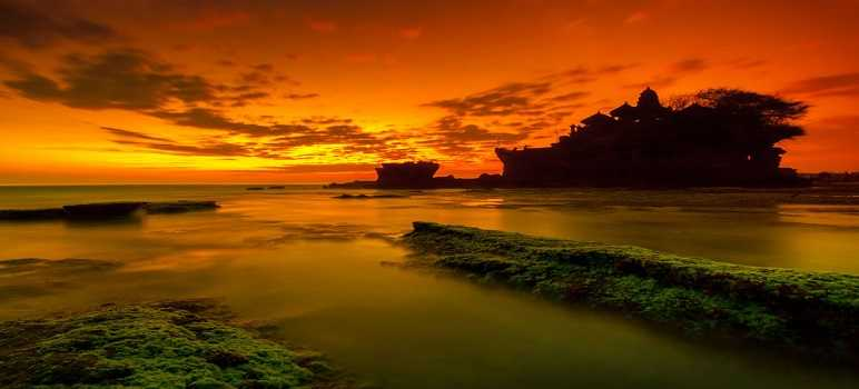 Gambar Sunset Tanah Lot Bali