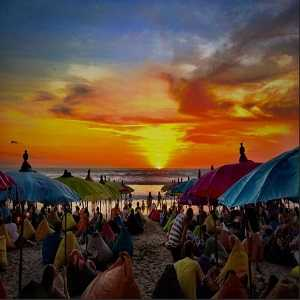 Sunset Pantai Double Six Bali