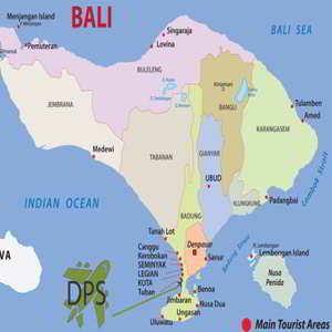 Peta Map Kuta Bali Lengkap