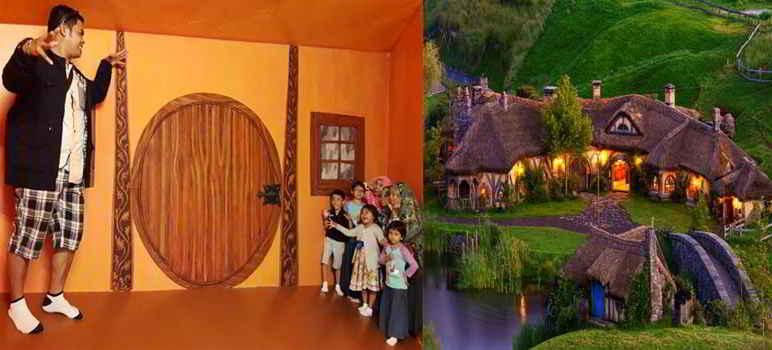Rumah Hobbit di Musuem IAM BALI 3D Renon Denpasar