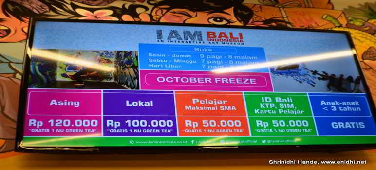 Harga Tiket Masuk IAM BALI 3D Interactive Art Museum