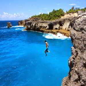 Objek Wisata Pantai Blue Lagoon Bali