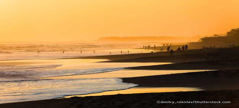 Sunset Pantai Berawa Canggu Bali