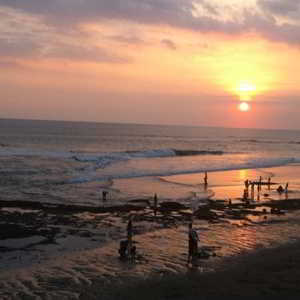 Sunset Pantai Echo Beach Canggu Bali