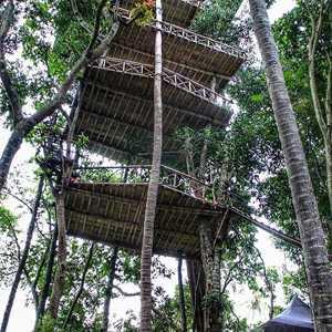 Rumah Bambu di Desa Temega Karangasem Bali
