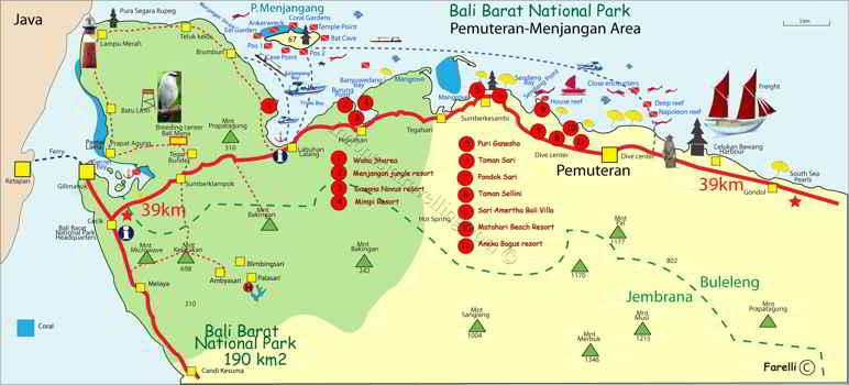 Objek Wisata di Kawasan Taman Nasional Bali Barat TNBB