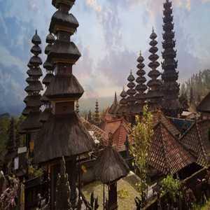 Denah Pura Agung Besakih Karangasem Bali