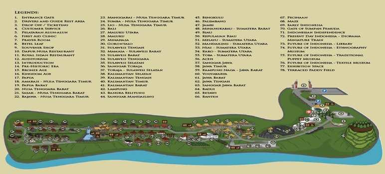 Fasilitas Taman Nusa Gianyar Bali