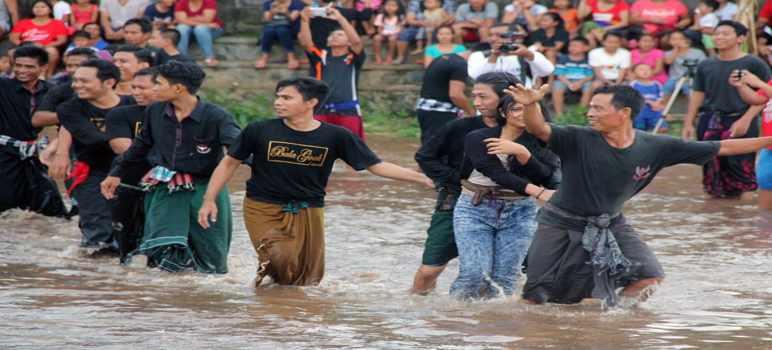 Tradisi Megoak - Goakan Panji Sukasada Buleleng Bali