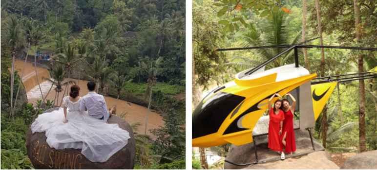 Fasilitas Wisata dan Wahana Bali Swing Bongkasa