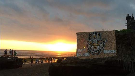 Sunset Batu Bolong Beach Canggu Bali