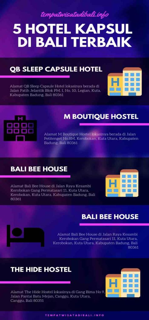 Hotel Kapsul di Bali Infographic