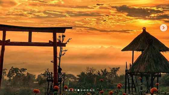 Sunset di Taman Jinja Bali