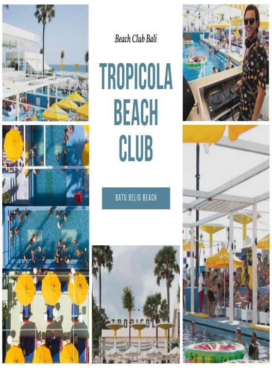 Tropicola Beach Club Bali