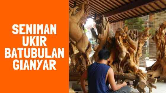 Seniman Ukiran Di Desa Batu Bulan Bali