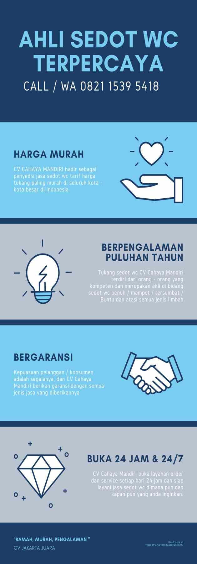 Jasa Sedot WC Murah Indonesia Infographic